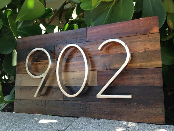Hand Made Reclaimed Wood Home Address Plaques Address Plaque House In The Woods Wood Home Decor