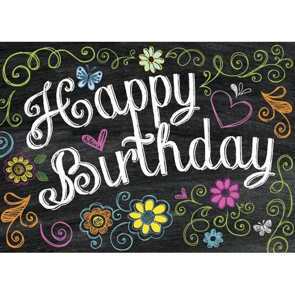 Chalkboard MessageBirthday Card Happy Birthday