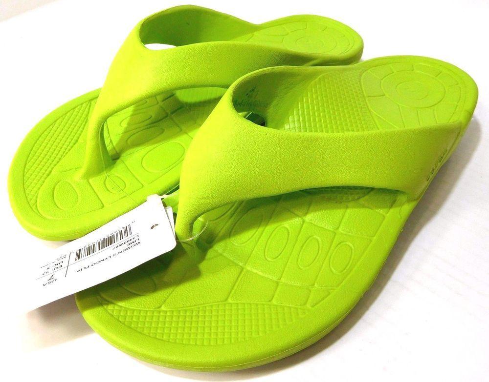 1e7e494caa19 Aetrex Lynco Flips Women s Lime 7 M Sandals Flip Flops Light   Comfortable  NWT  Aetrex  FlipFlops