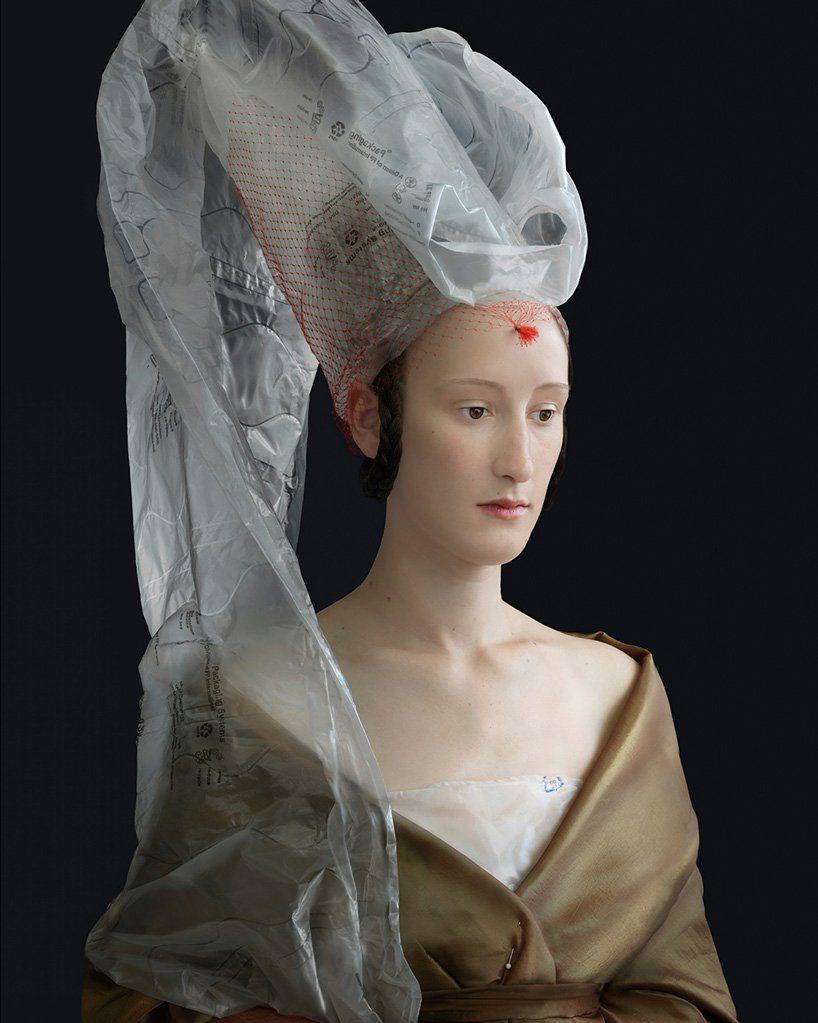 suzanne jongmans sculpts recycled packaging into renaissance fashions is part of Renaissance portraits, Renaissance paintings, Renaissance fashion, Renaissance clothing, Portraiture, Painting photos -