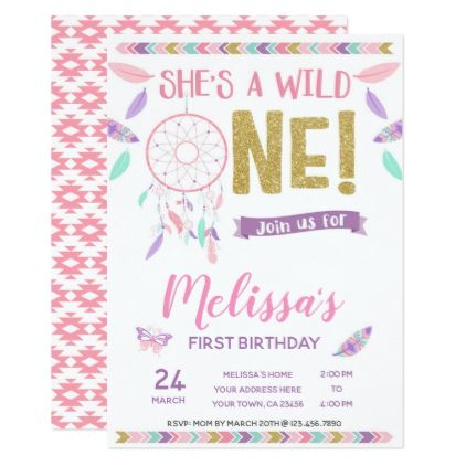 Wild One 1st Birthday Invitation - birthday cards invitations party - invitation to a party