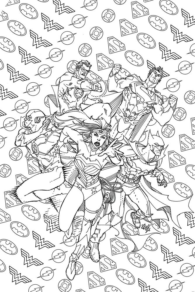 Image Justice League of America 7 DCU variant Adult Coloring