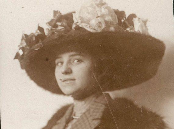vintage photo 1910 Beauty Lady big Hat Bookmark by maclancy, $6.50