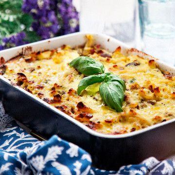Pastagratang Med Ricotta Och Zucchini Recept Vegetariska