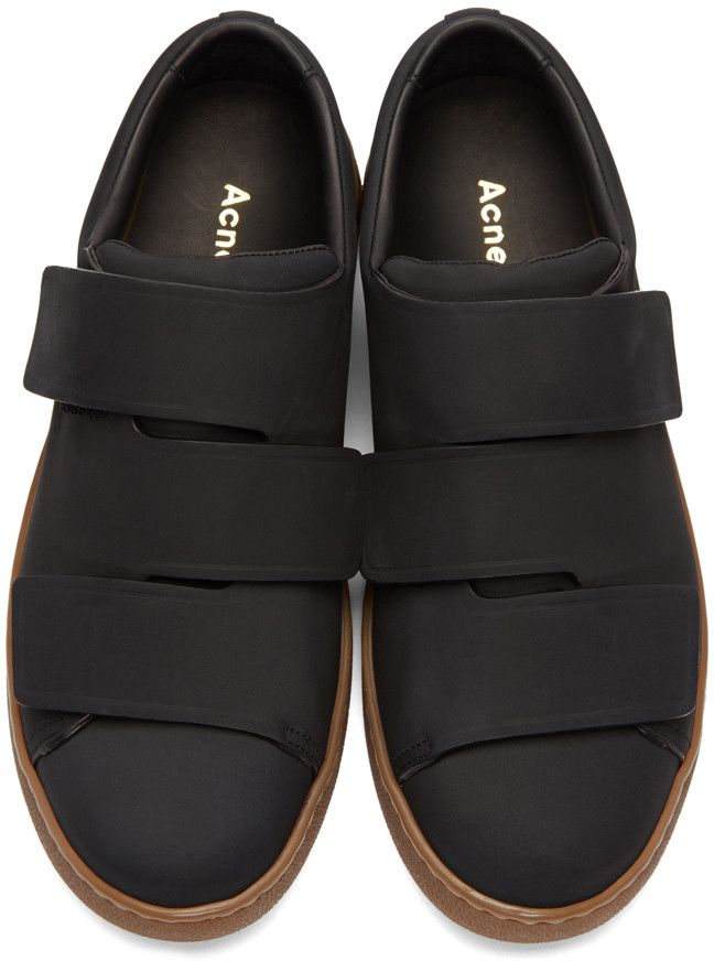 8779e5c36c38 Acne Studios - Baskets en nubuck noires Triple   Shoes   Pinterest ...