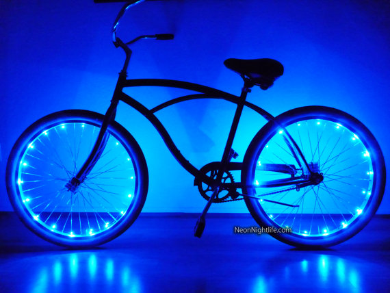 Bike Led Lights Bicycle Glow In The Dark Light Up Party Rave