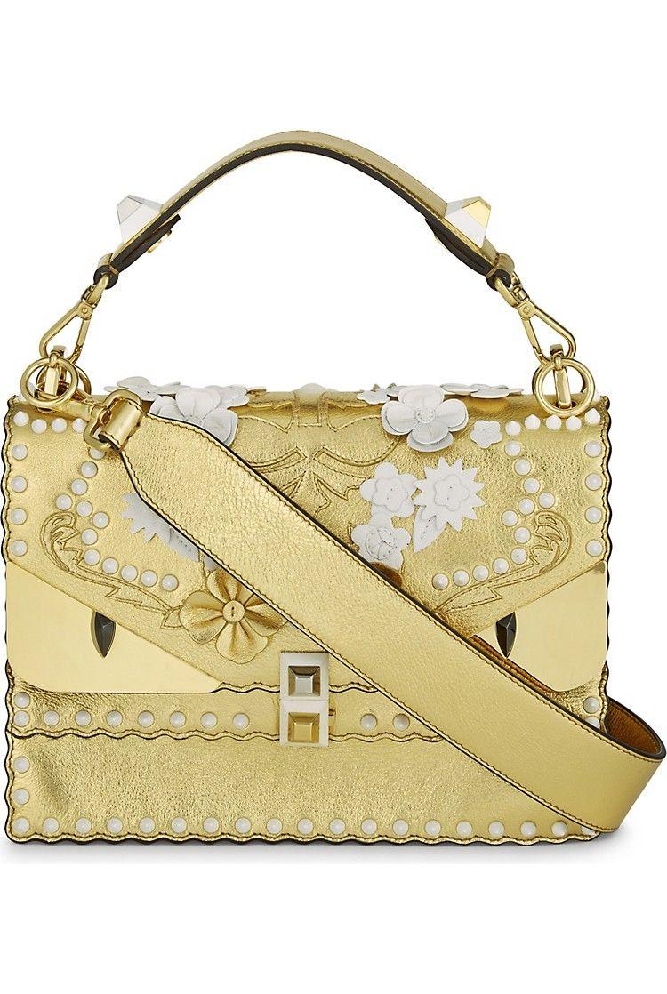 fc20aa77ed50 FENDI - Kani I Special metallic leather shoulder bag