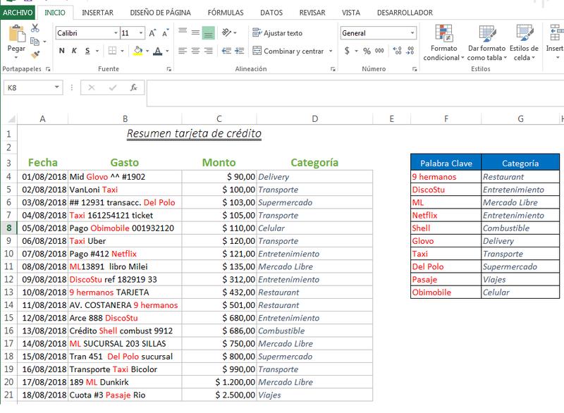 Clasificación De Texto En Función De Una Palabra Clave Planillaexcel Com Textos Palabras Claves Palabras