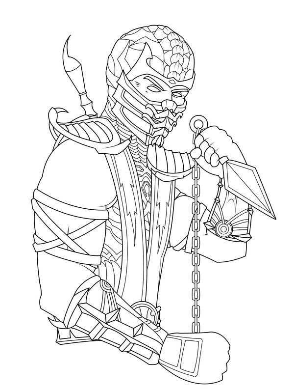 Pin by alifiah on Coloring Pages | Pinterest | Mortal kombat