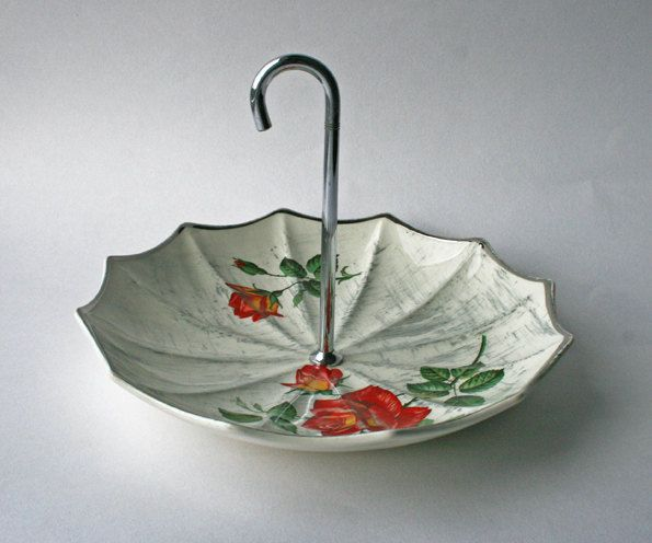 Midwinter Umbrella Cake Pedestal Stand Stylecraft Rose