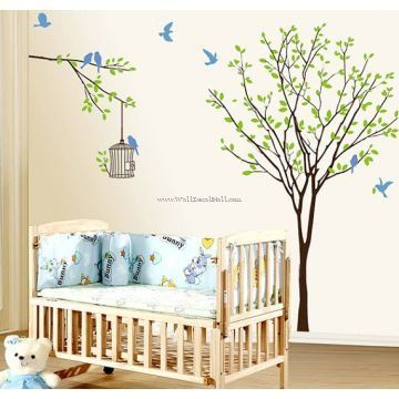 The Birds Flitted From Branch To Branch In The Woods Wall Decals