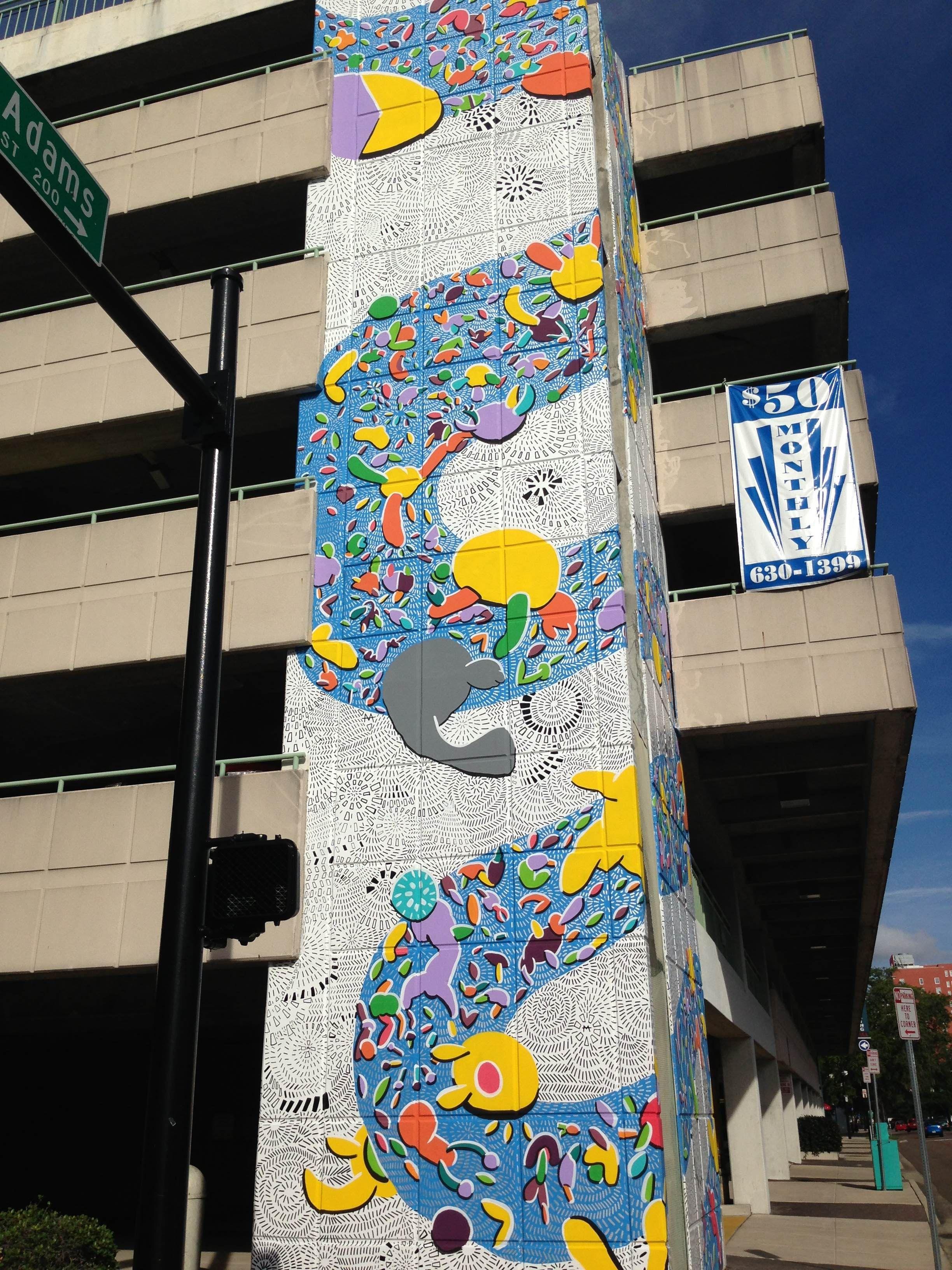 Public mural yates garage downtown jacksonville architecture