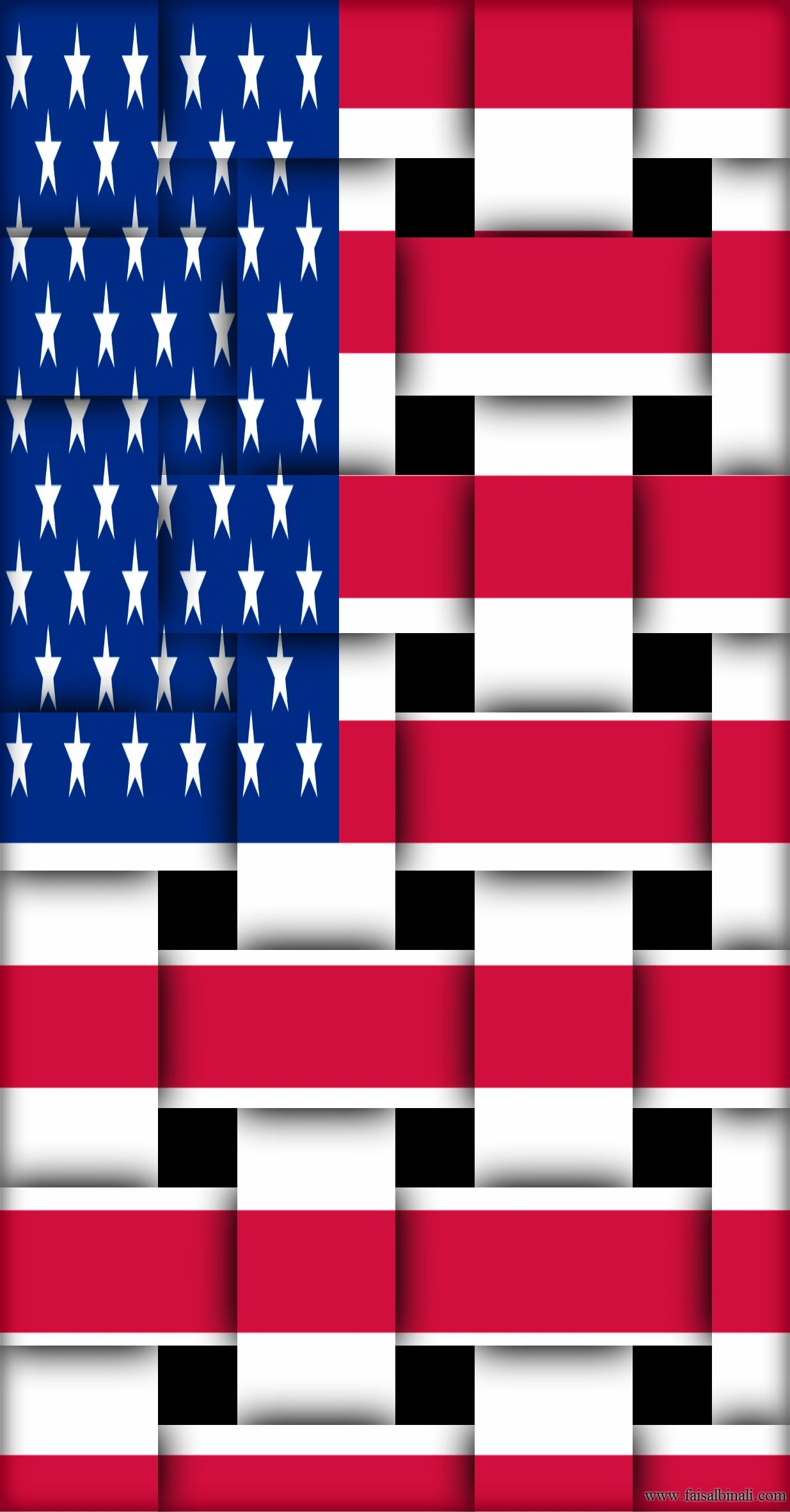 usa #flags #artwork #wallpapers #for #smartphones, #tablets and