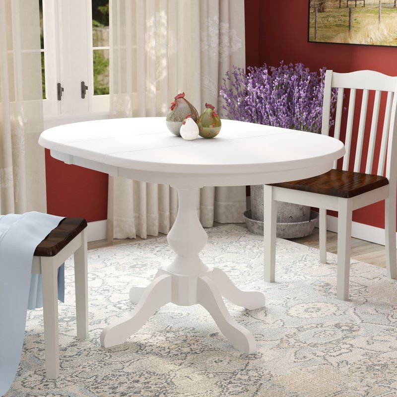 Clippercover Extendable Solid Wood Rubberwood Dining Table Dining Table Solid Wood Dining Table White Dining Table
