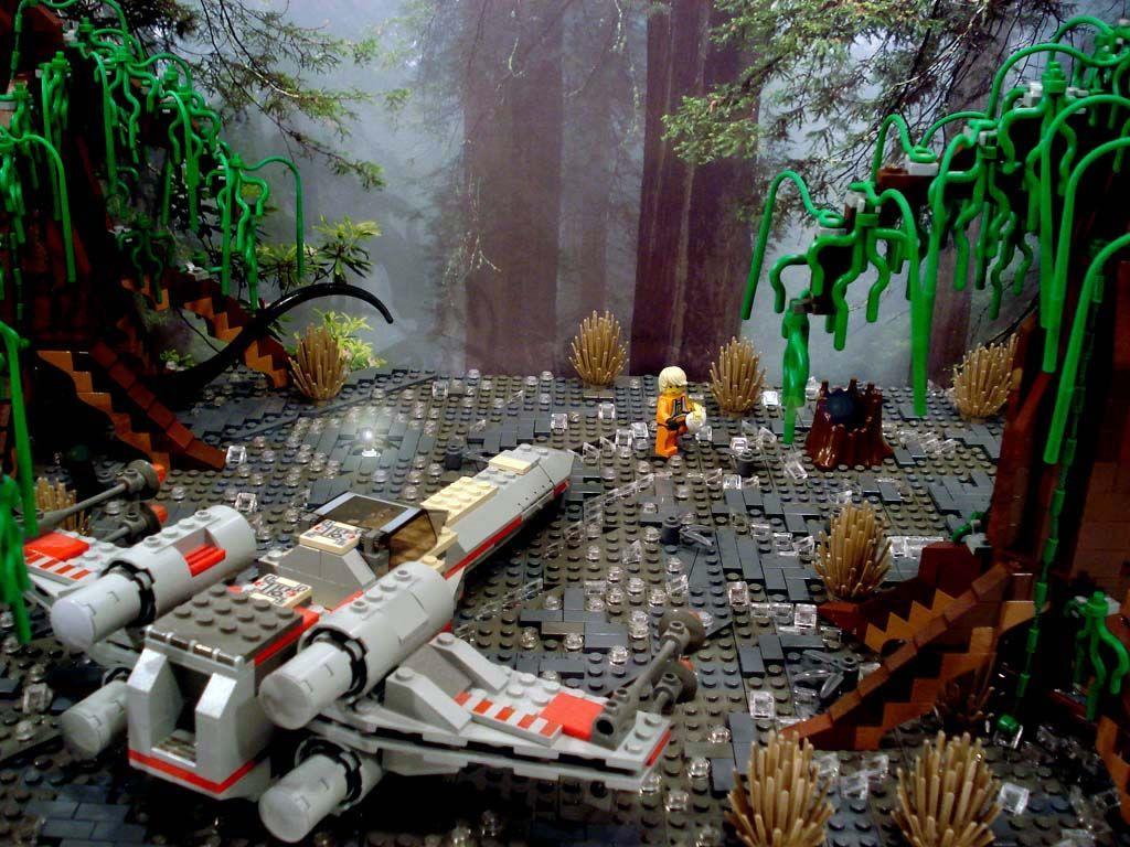 ACPin | Lego | MOC | Dagobah XWing Crash Site