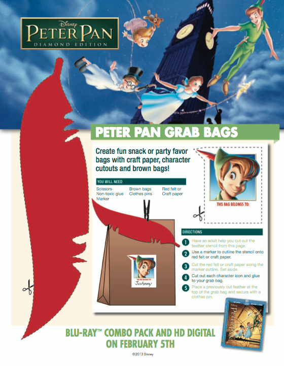 Bring Never Land to any party with these Peter Pan Grab Bags ...