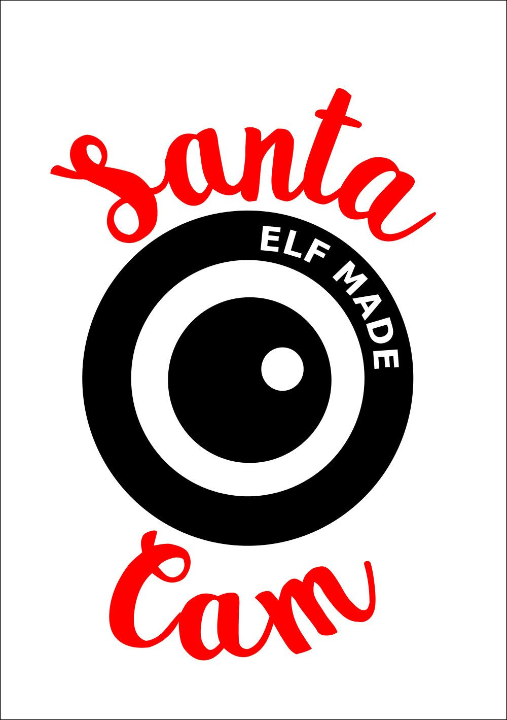 Santa Cam Svg Dxf Pdf Cuttable File Santa Camera