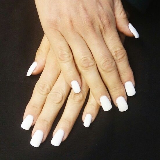 Uñas de gel total white