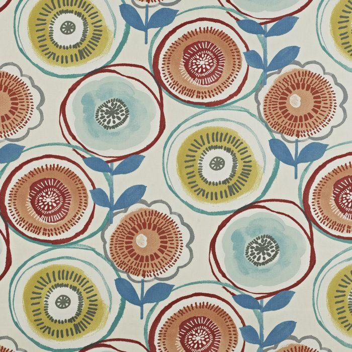 prestigious textiles  clock cotton  fabric blue curtains blind uphostery new