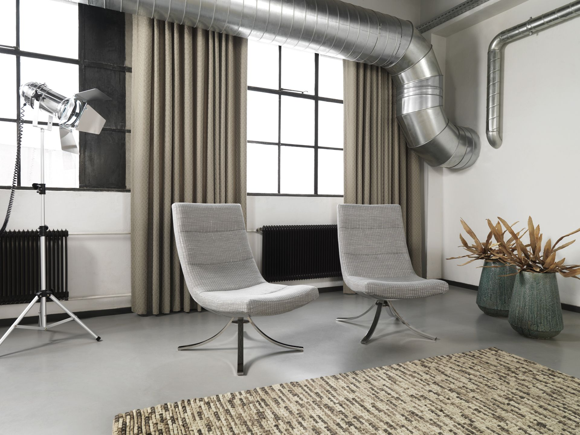 Industrial Chic Curtains Inoxy Collection Inspired By The Industrial Look Used To