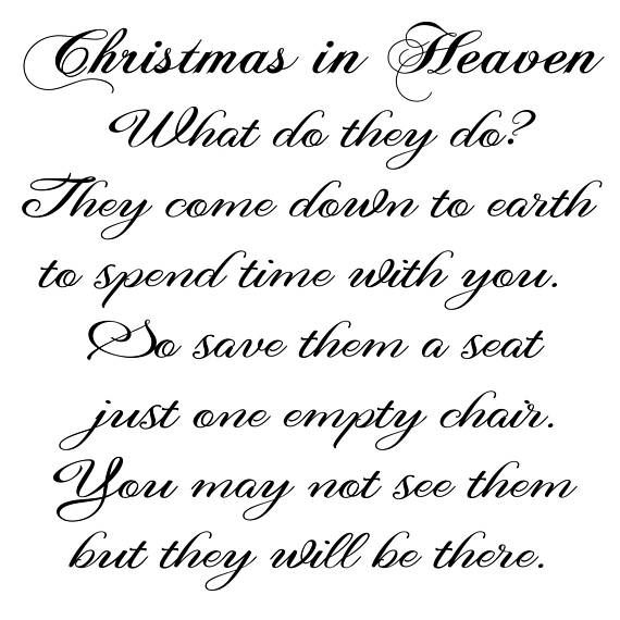 Christmas In Heaven Poem Svg.Christmas In Heaven Svg File Christmas Svg In Memoriam