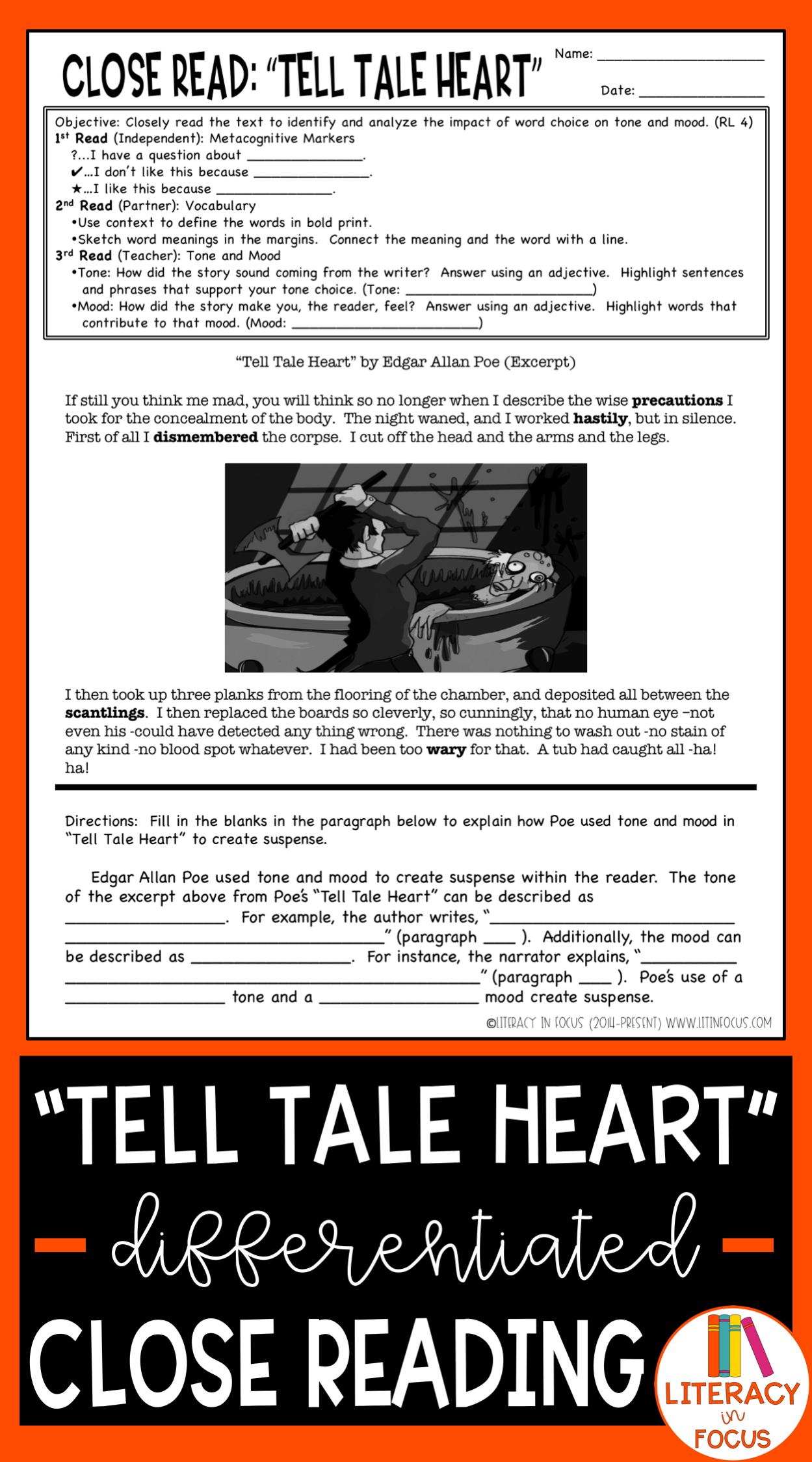 Tell Tale Heart Activities