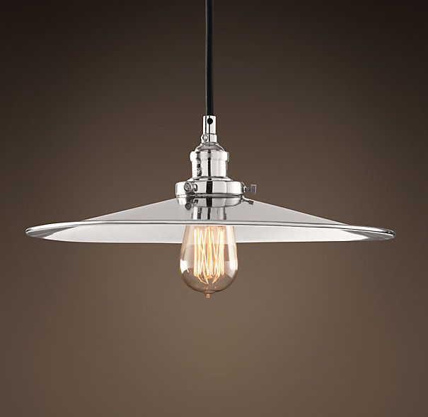 "Restoration Hardware: Metal Filament 14"" Pendant Polished"