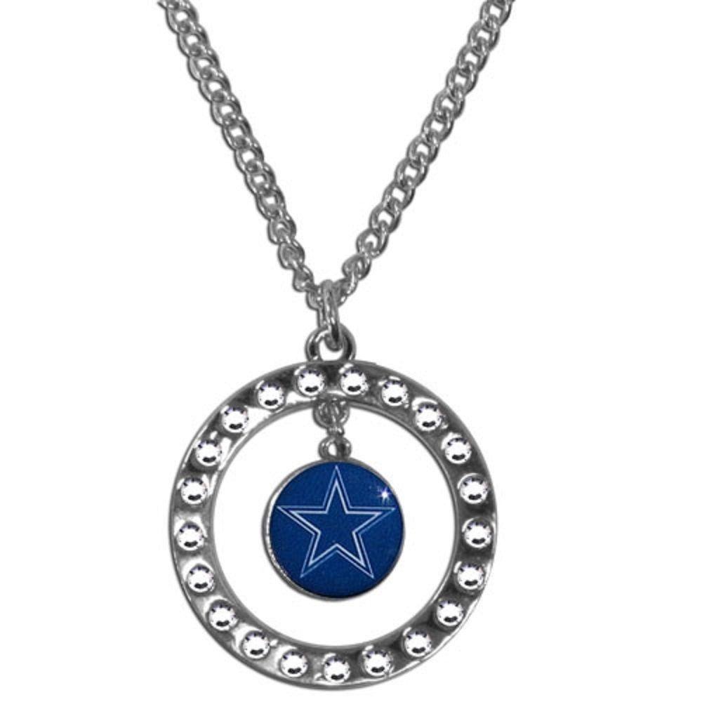Dallas Cowboys Rhinestone Hoop Necklace
