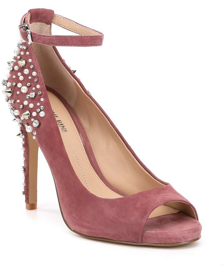 7c24f8defe Gianni Bini Naraa Suede Studded Ankle Strap Pumps | Products ...