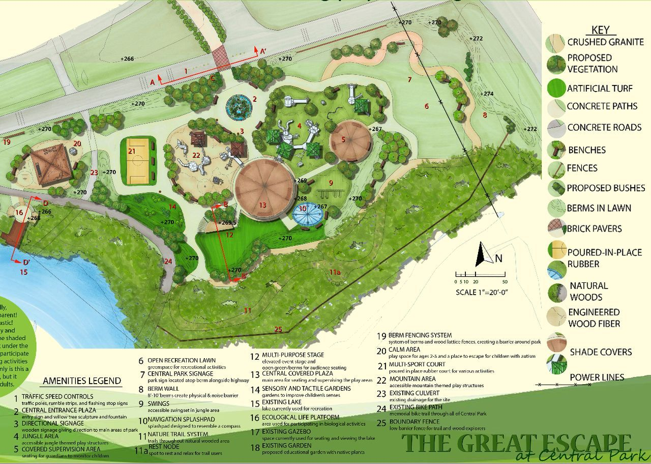 landscaping park for playground plan Google