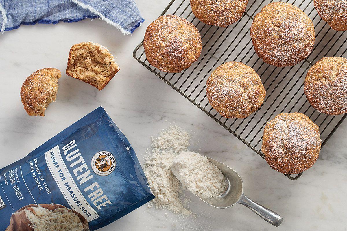 Measure For Measure Flourish King Arthur Flour Banana Muffins Gluten Free Banana Muffins Banana Muffin Recipe