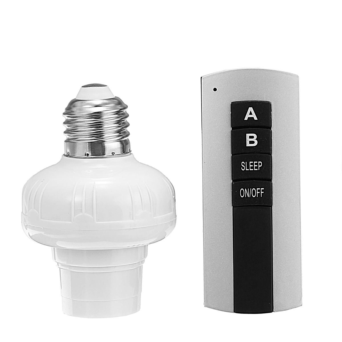 E27 Screw Wireless Remote Control Switch Lamp Holder Bulb Adapter Cap Socket Ac185 265v Lighting Accessories From Lights Lighting On Banggood Com Bulb Adapter Lamp Holder Remote Control