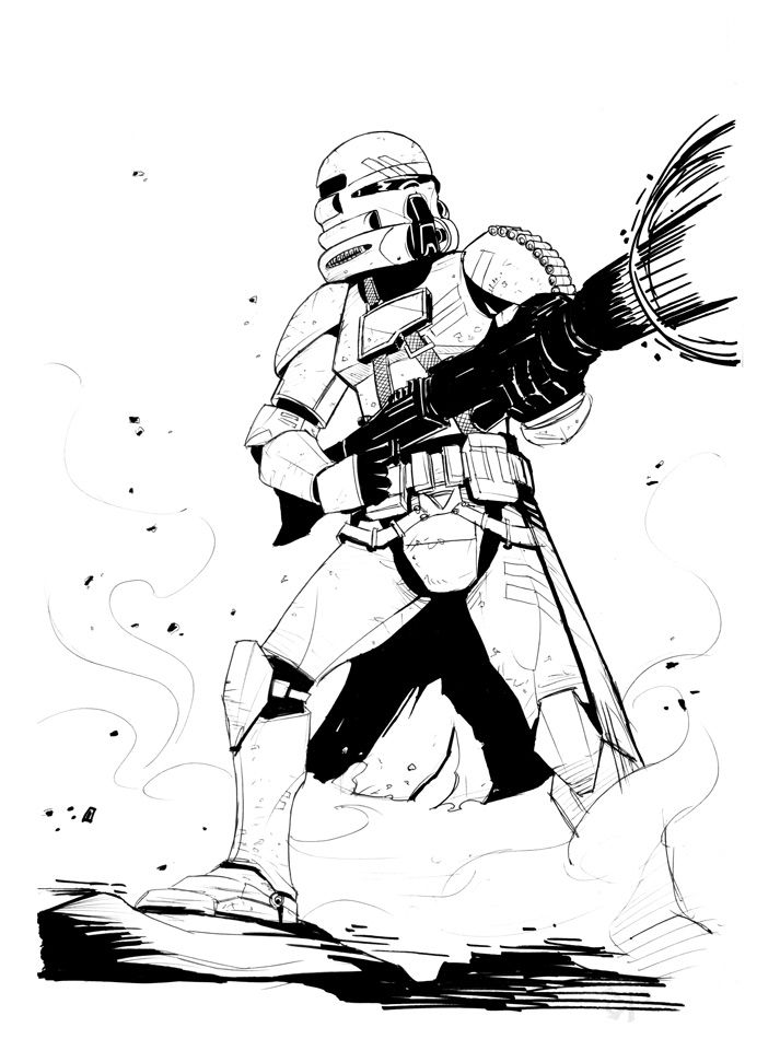 Airborne Storm Trooper by Zubby LineArt Star Wars Pinterest