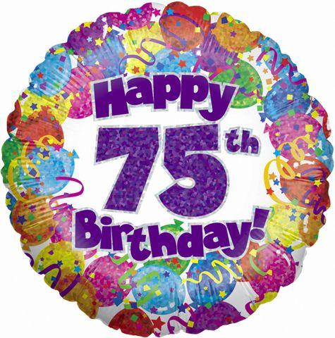 75th Birthday Decorations Banners 75 Years Balloons Cakepins