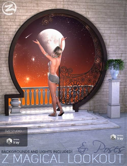 3D Model  Z Magical Lookout  Scene and Poses for Genesis 3 and 8 Female Free Download http://ift.tt/2Gkzb40