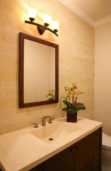Bathroom lighting fixtures over mirror rustic pottery barn ...