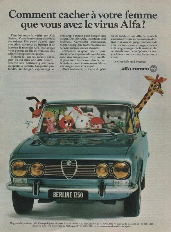 Publicité Alfa 1750 Berlina