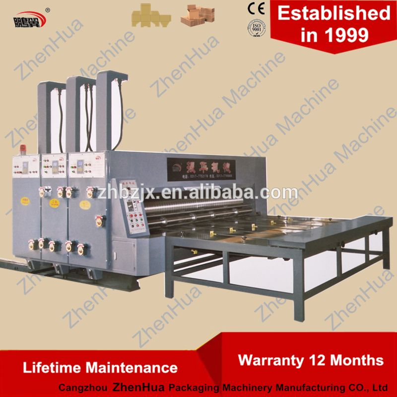 Semi Automatic Printer slotter die cutter Carton Box Making Machine