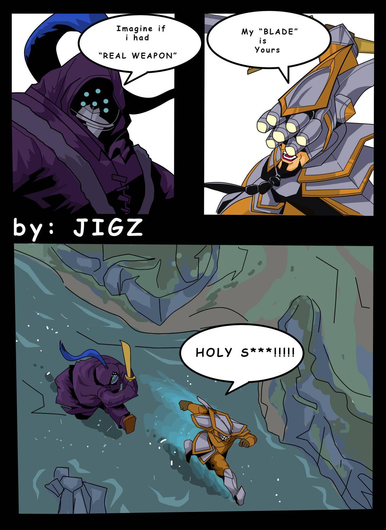 Yi Vs Jax Copy By Jiggernuts League Of Legends Comic League Of Legends Characters Funny Memes
