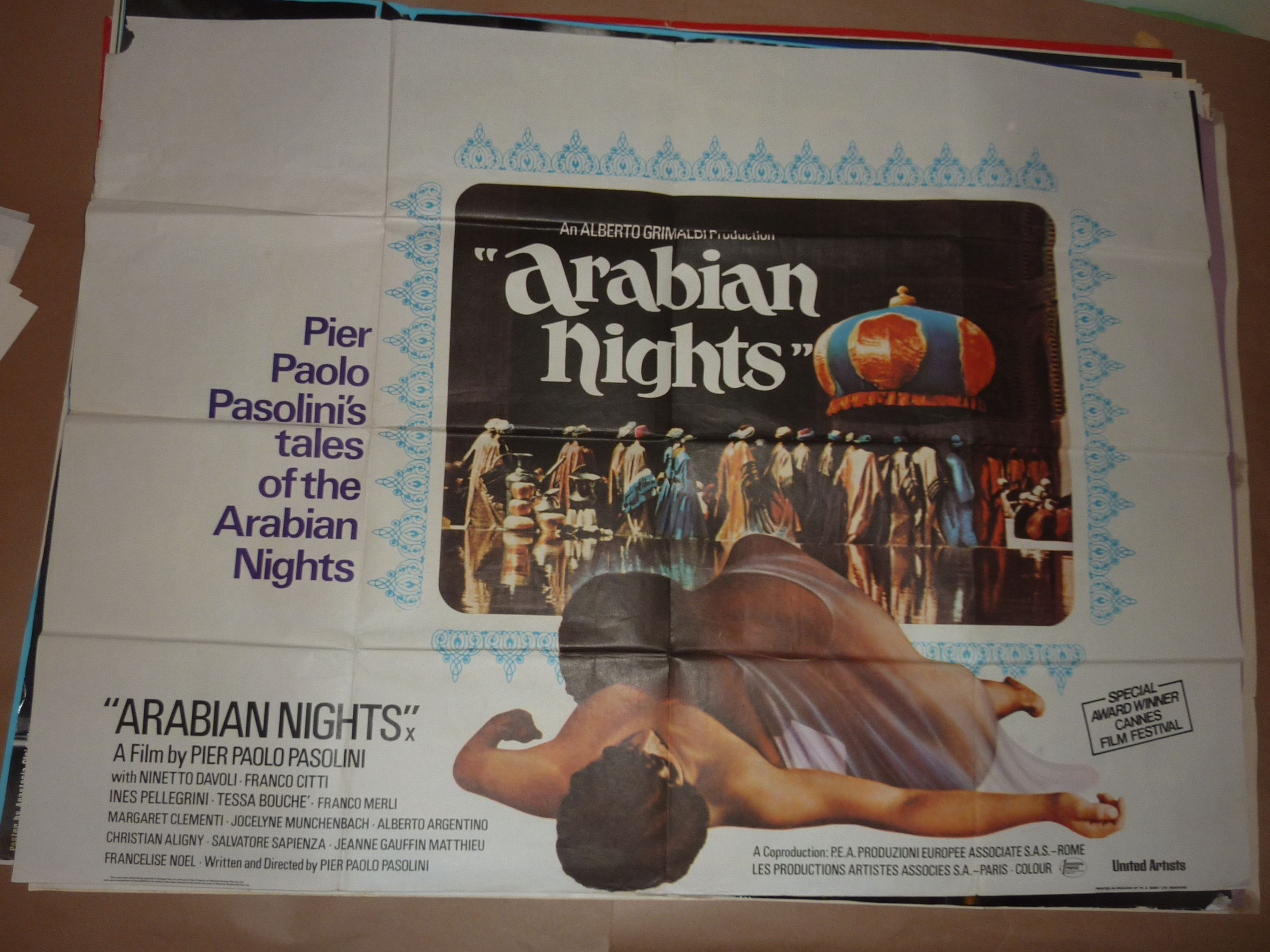 Uk Quad for Arabian Nights (1974) Director: Pier Paolo ...