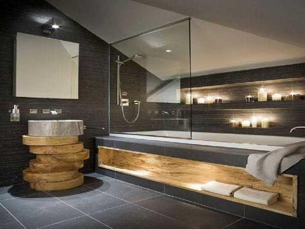 20 salles de bain zen qui donnent des id es d co carrelage gris anthracite - Faux carrelage adhesif ...