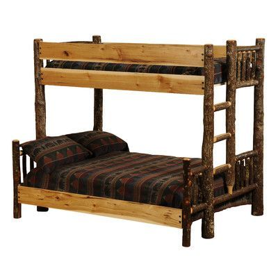 Fireside Lodge Hickory Twin Over Queen Bunk Bed Color Traditional