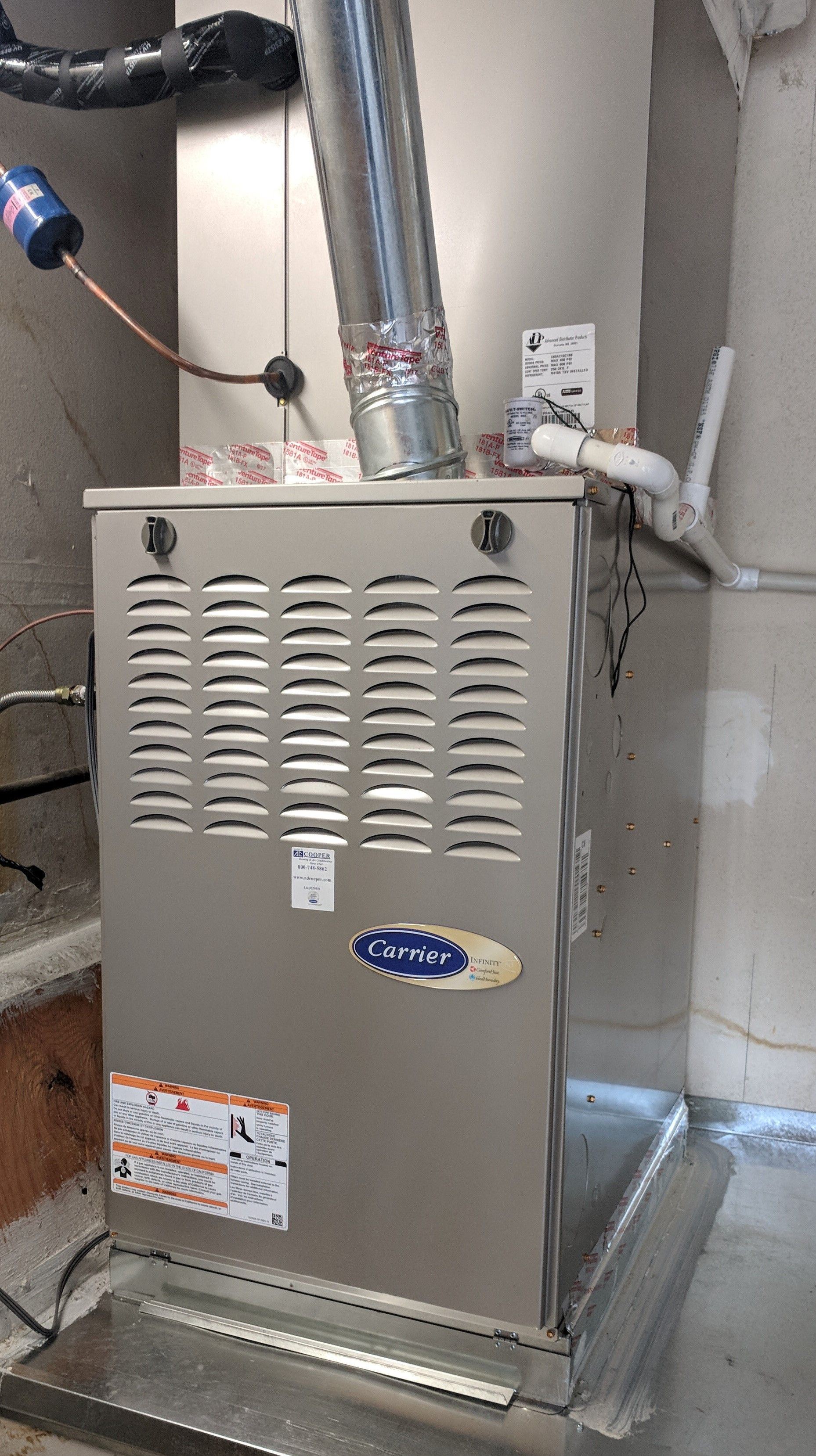 We installed this furnace along with the condenser for one