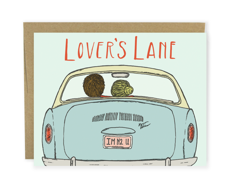 sweet valentine's day card, love card, anniversary card, lover's lane card from Hello Small World
