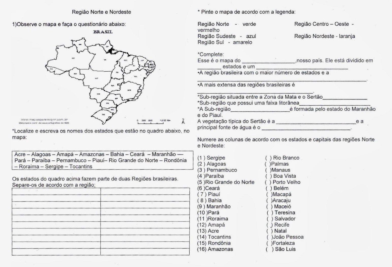 12 Atividades Sobre Regiao Nordeste Para Imprimir Em 2020