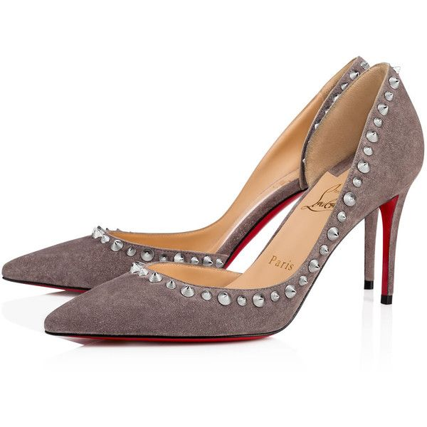 Wie Die Meisten Louboutin High Top Grau Wildleder Schuhe