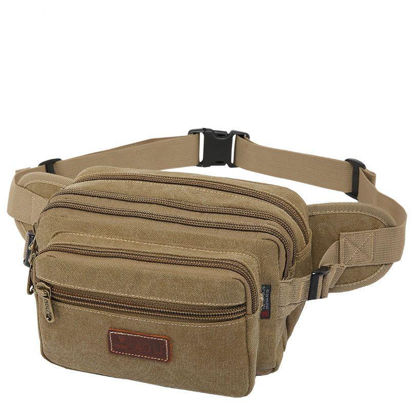 Well-Made Coin Canvas Travel Pack Men Belt Fanny Waist Bag Wallet Pouch Hiking