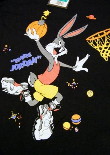Dead Stock Vintage Nike Air Hare Jordan Space Jam T Shirt