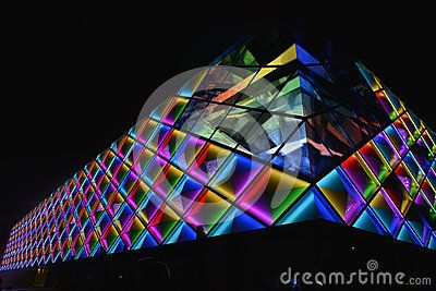 Led curtain wallnight lighting of modern commercial building pop led curtain wallnight lighting of modern commercial building mozeypictures Image collections
