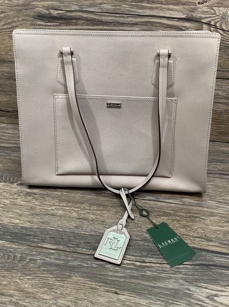 d7a421fda Ralph Lauren Lowell Tote Dove Gray Leather Handbag *NWT* $278 # LaurenRalphLauren #Tote